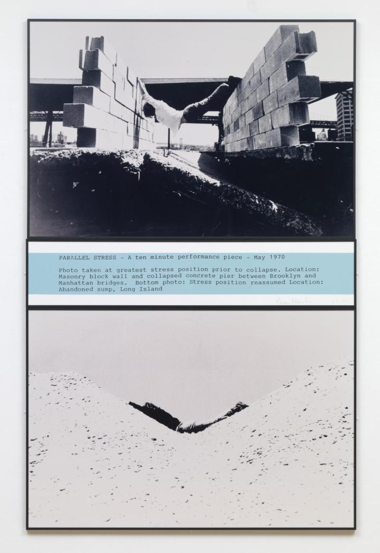 Parallel Stress 1970 by Dennis Oppenheim 1938-2011